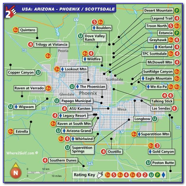 Phoenix Golf Courses Map