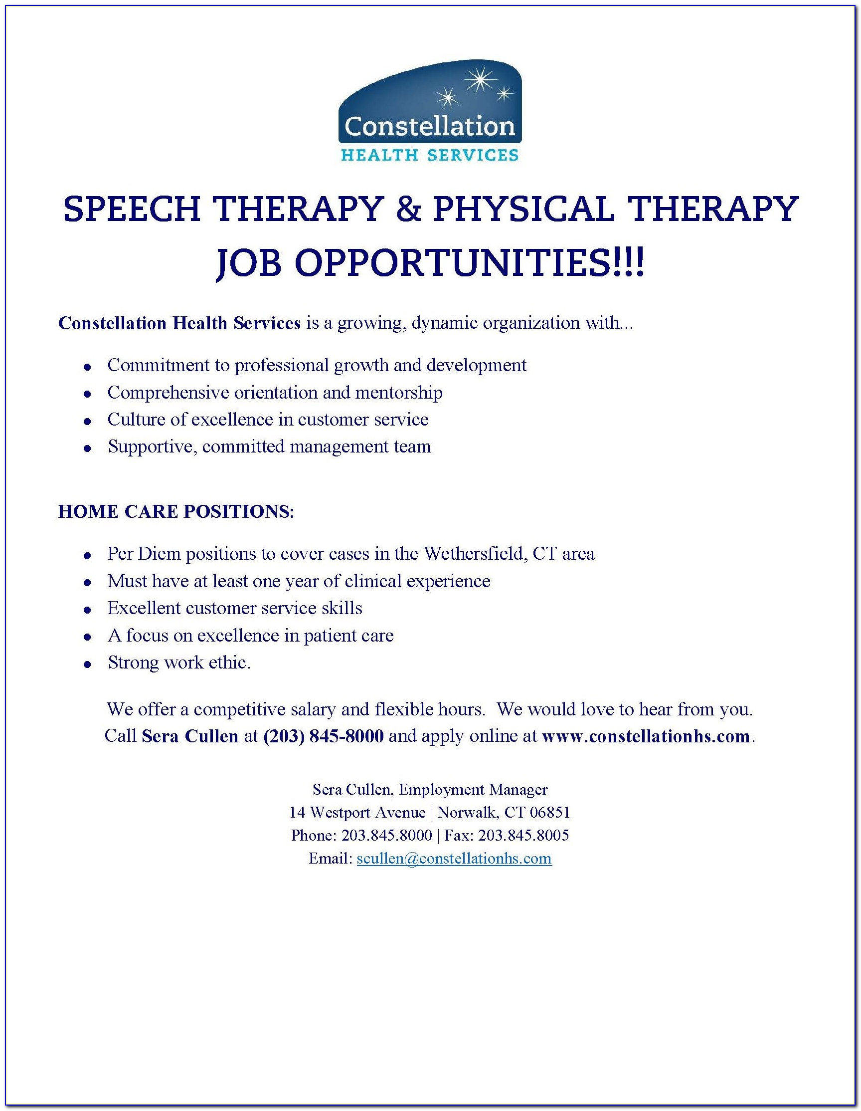 Physical Therapist Assistant Job Openings