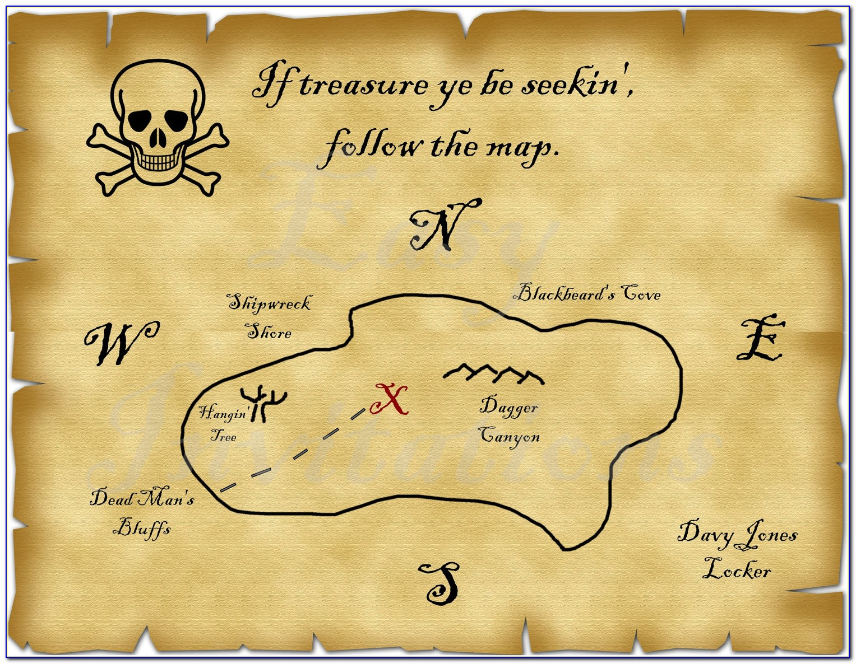 Pirate Maps To Print Free