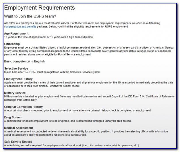 Post Office Job Apply Form