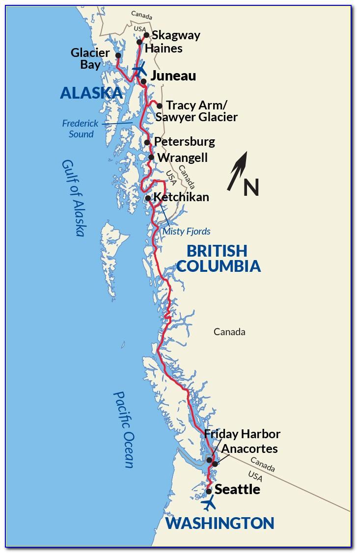 Princess Cruise Alaska Inside Passage Map