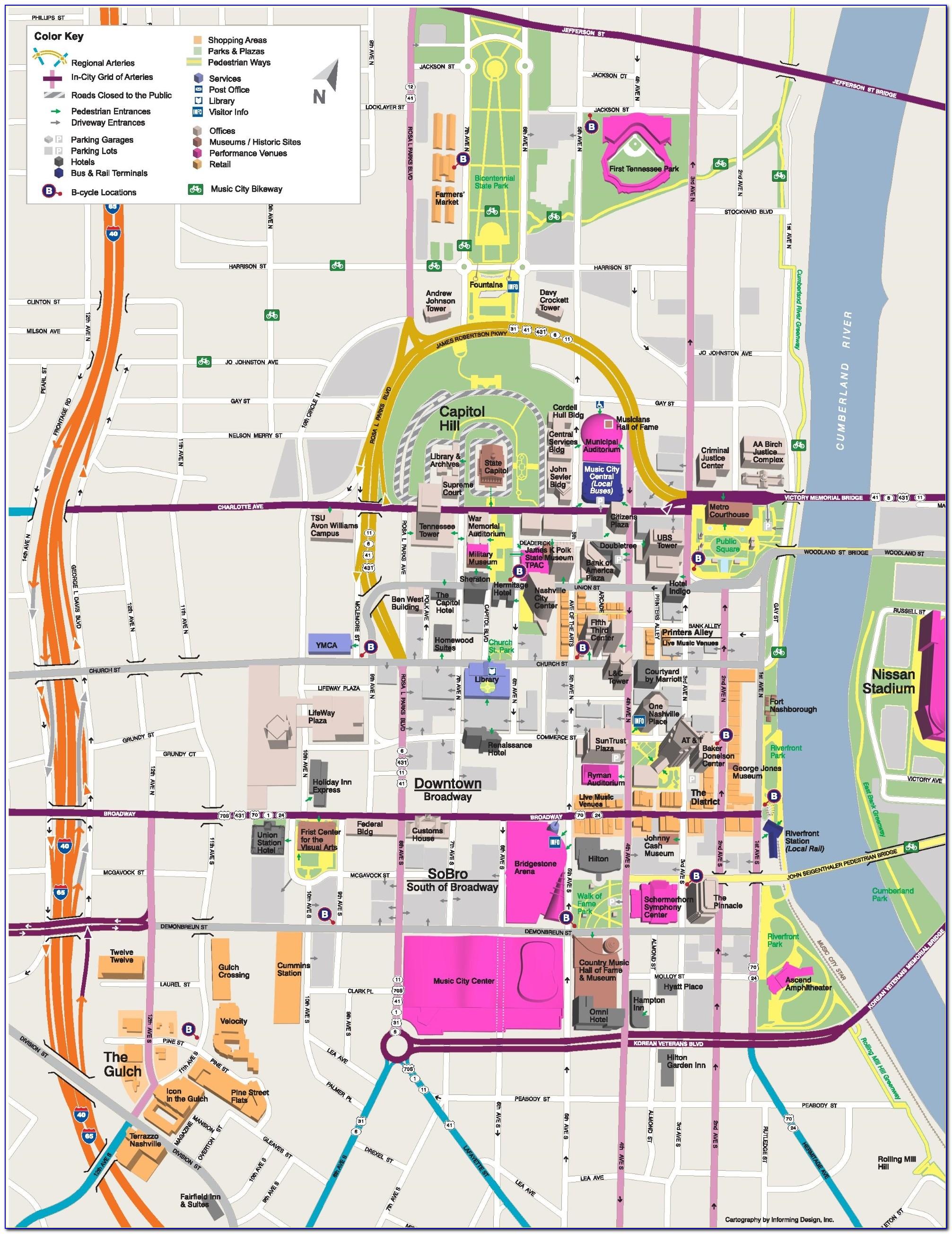 Print Map Of Nashville