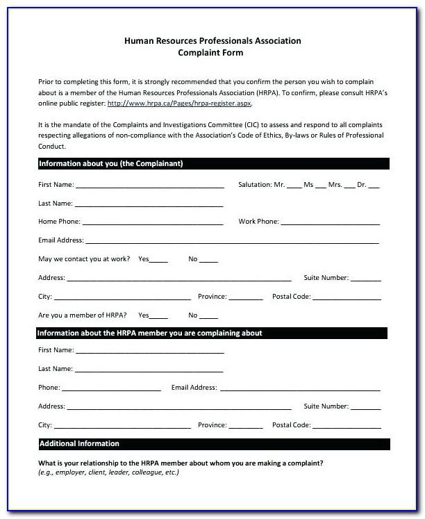 Printable Affidavit Form