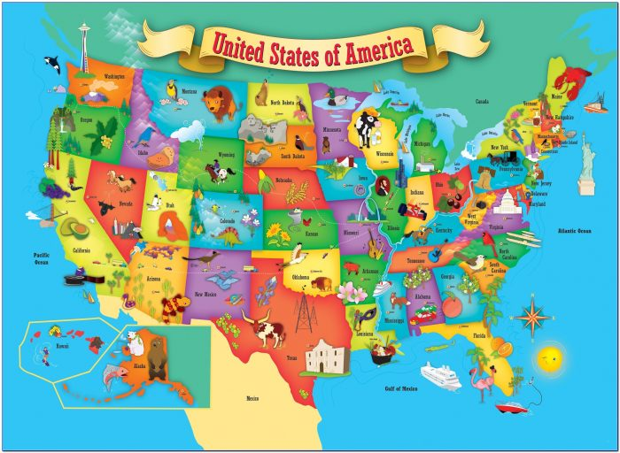 Printable Children's Map Of The United States