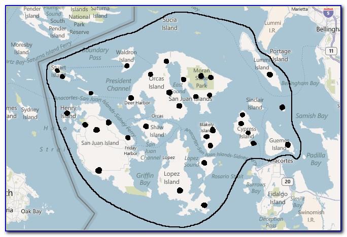 Puget Sound Islands Map