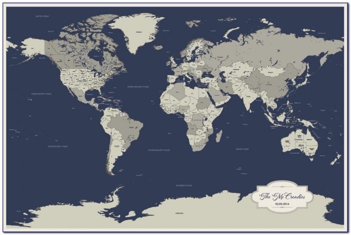 Push Pin Travel Map Australia