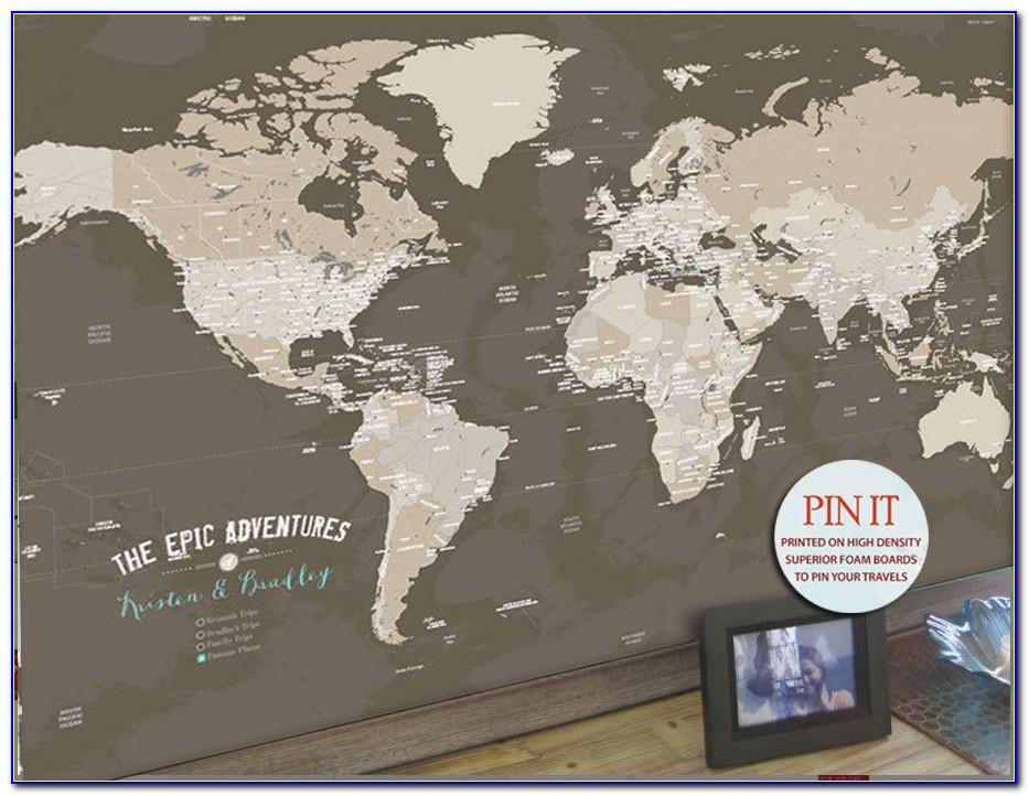 Push Pin Travel Map Canada