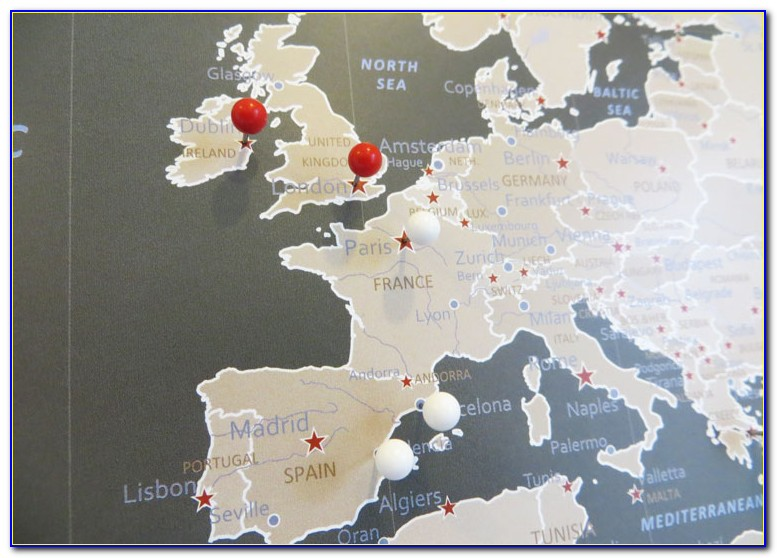 Push Pin Travel Map Diy