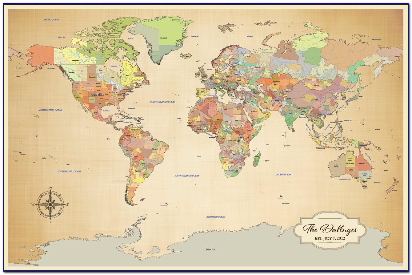 Push Pin Travel Map Etsy