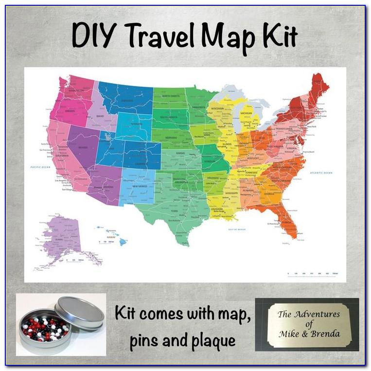 Push Pin Travel Map Usa