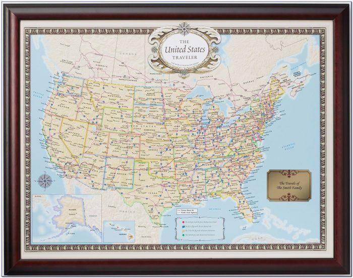 Push Pin United States Map