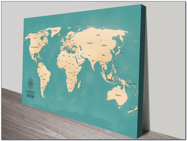 Push Pin World Map Australia