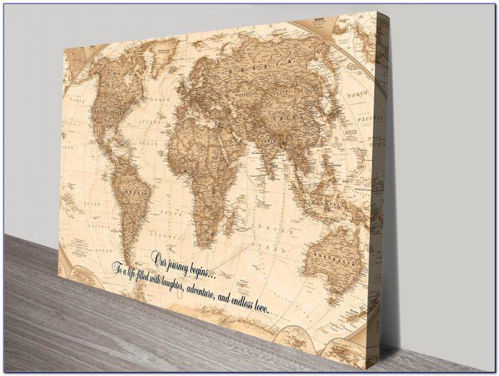 Push Pin World Map Diy