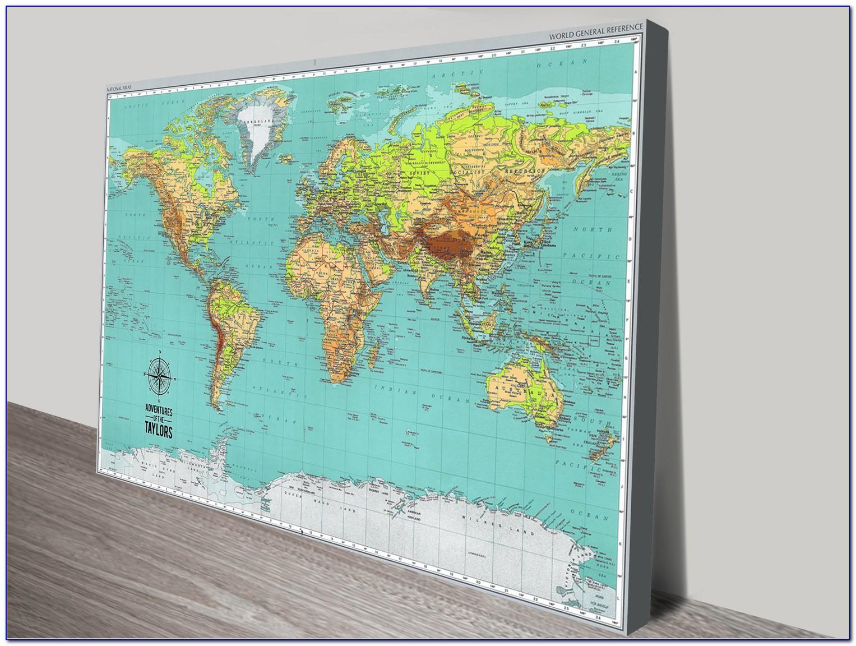 Push Pin World Map Uk