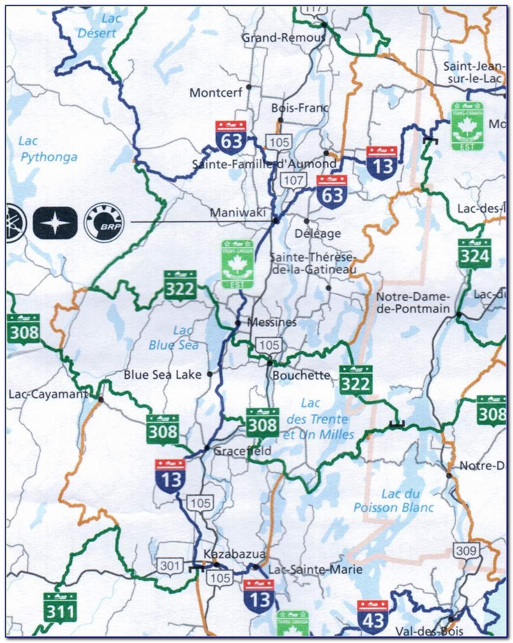 Quebec Snowmobile Trail Map