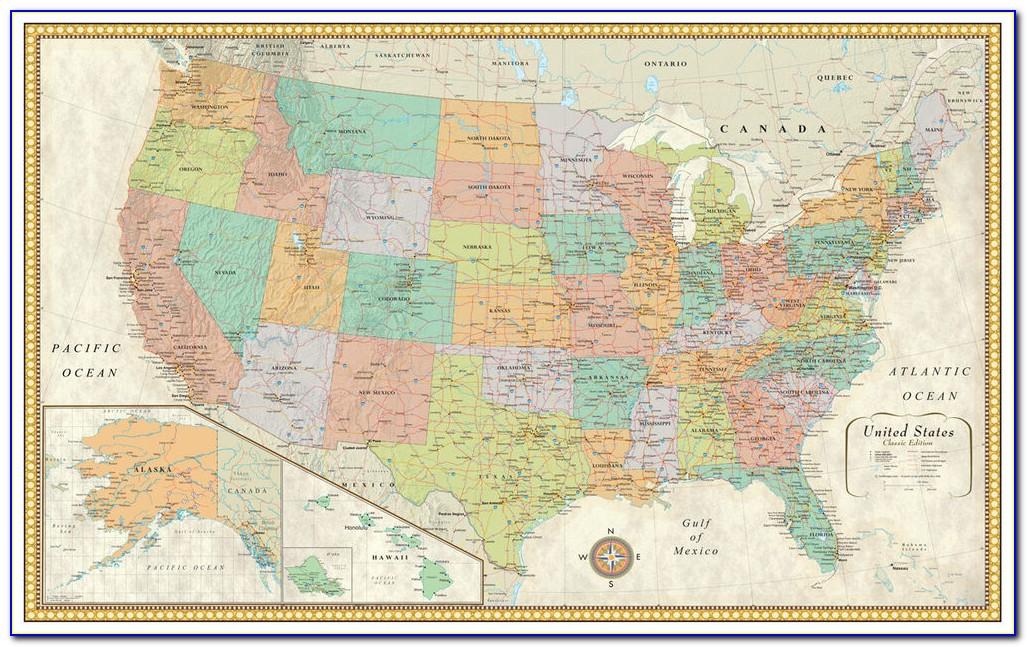 Rand Mcnally Cosmopolitan Us Map