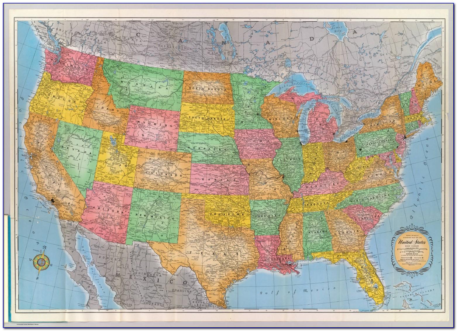 Rand Mcnally North America Map