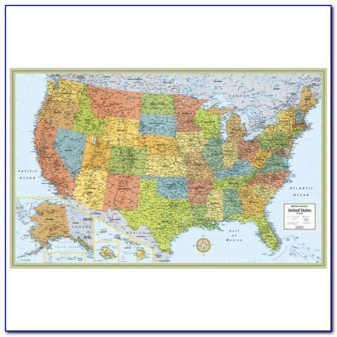 Rand Mcnally Us Map Poster