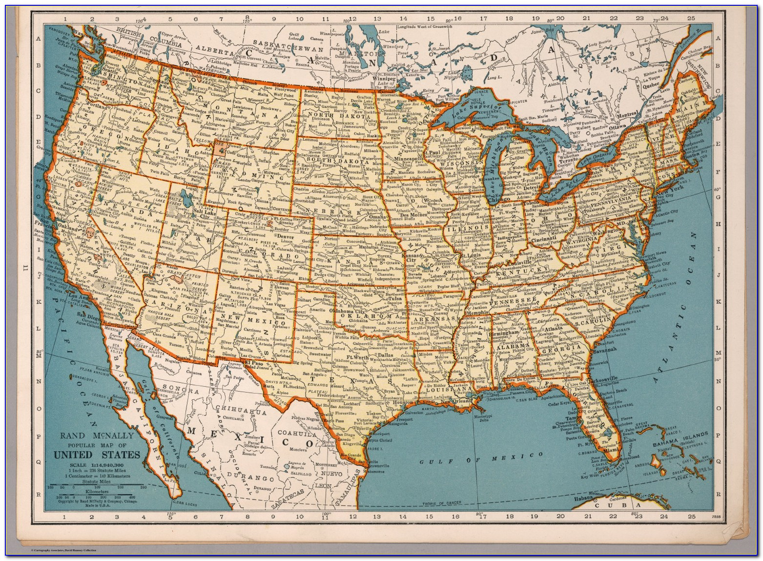 Rand Mcnally Usa Road Map