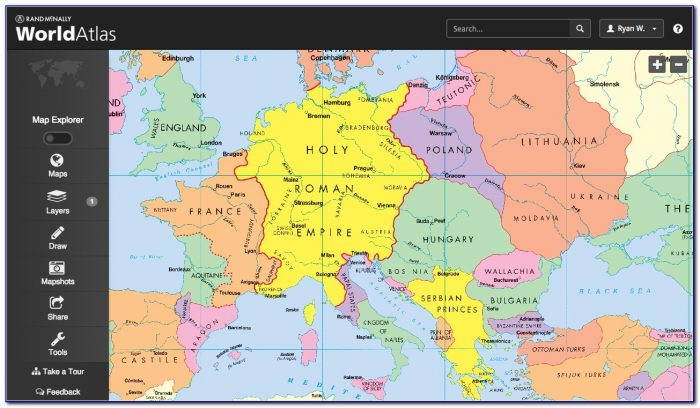Rand Mcnally World Map Desk
