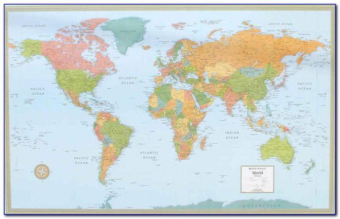 Rand Mcnally World Map Framed