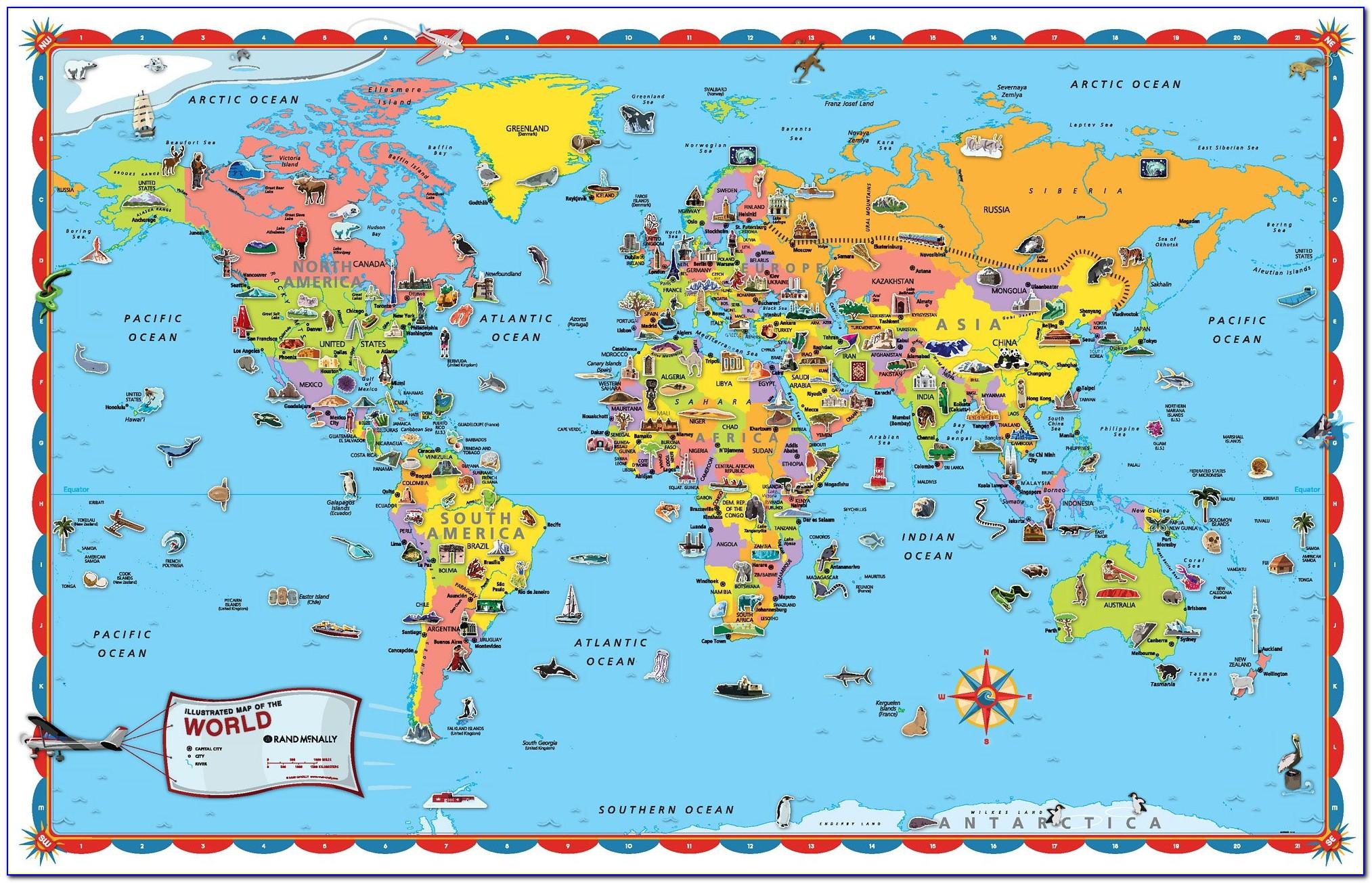 Rand Mcnally World Map Laminated