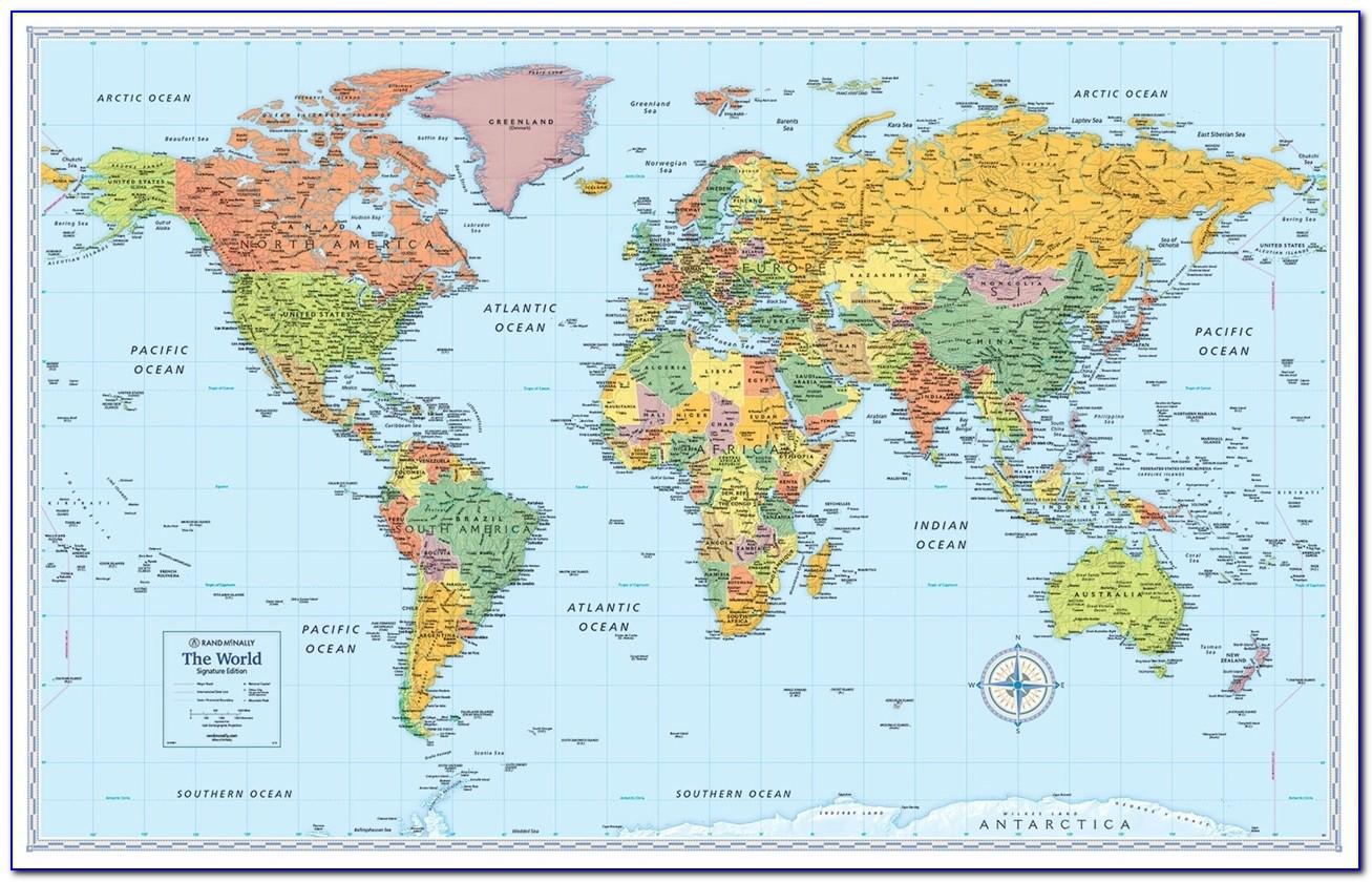 Rand Mcnally World Map M Series