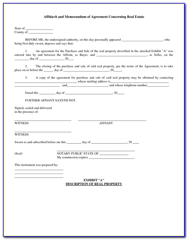 Real Estate Purchase Agreement Form Pdf