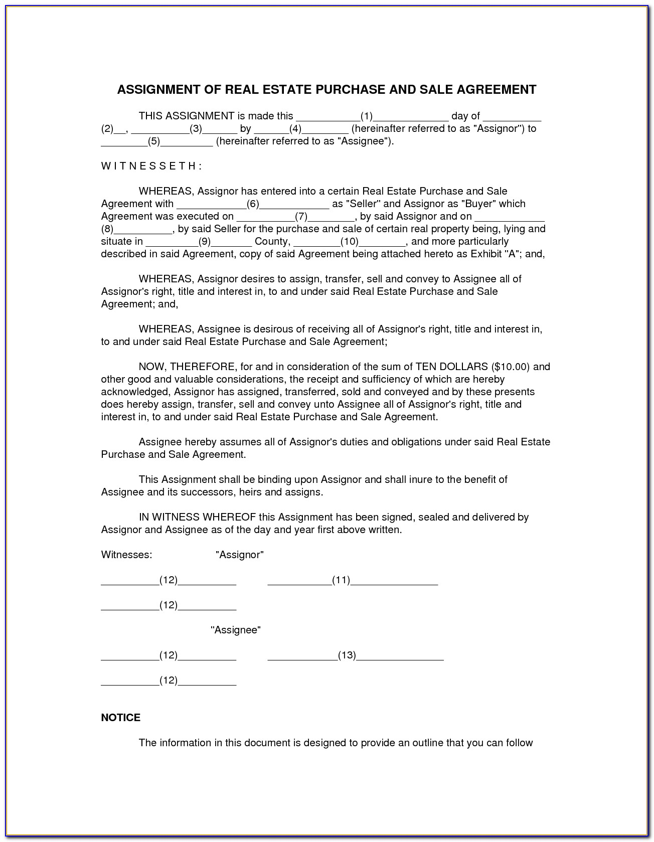 Real Estate Sales Agreement Form Oregon