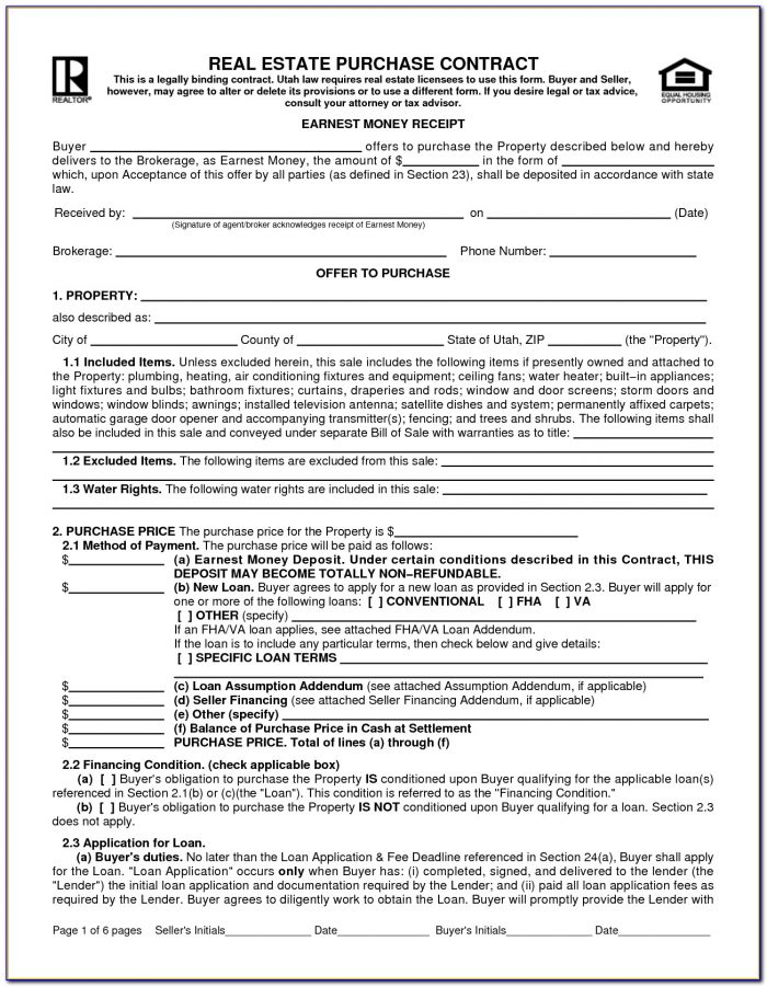 Real Estate Sales Agreement Form Pennsylvania