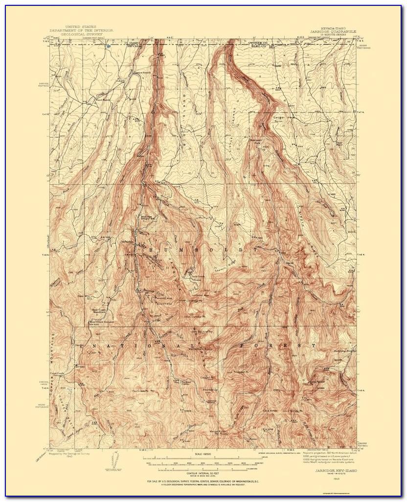 Reno Nevada Topographic Map