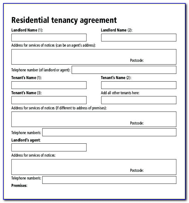 Rental Lease Agreement Form Free Download