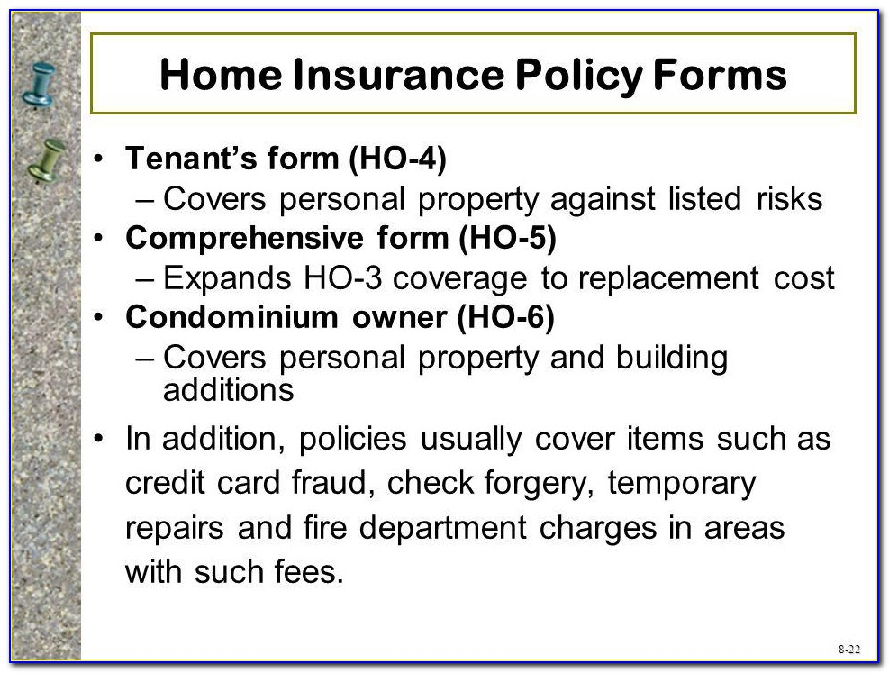 Renters Insurance Form Free
