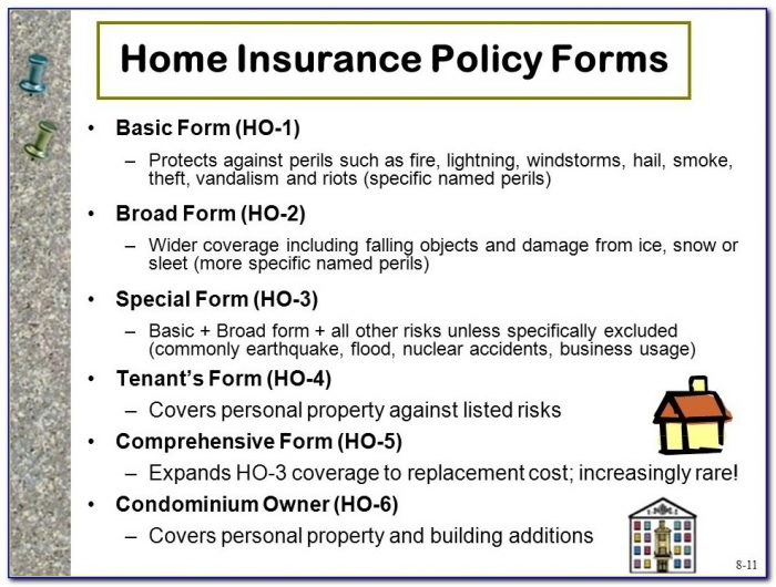 Renters Insurance Form Ho 4