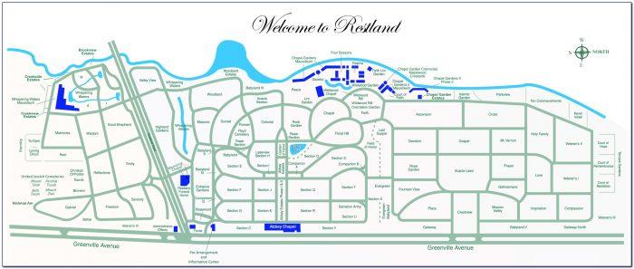 Restland Memorial Park Cemetery Map