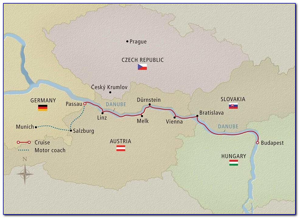 Rhine Danube River Cruise Map