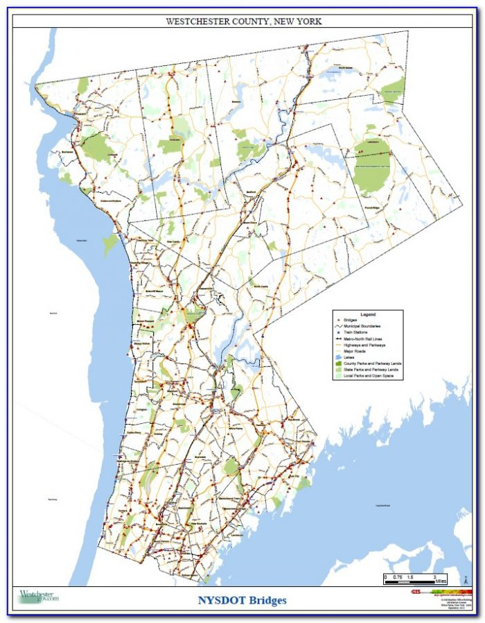 Road Map Westchester County New York