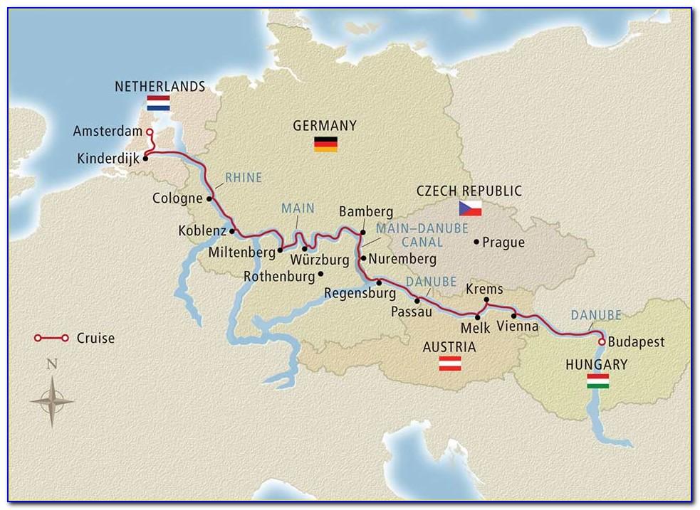 Romantic Danube River Cruise Map