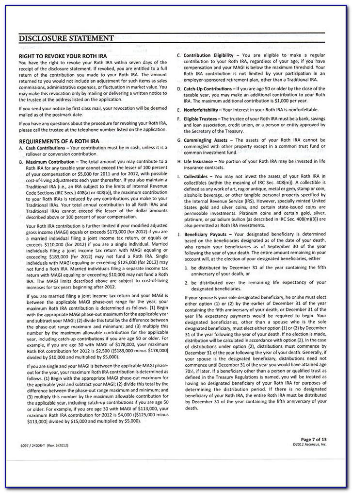 Roth Ira Distribution Tax Form