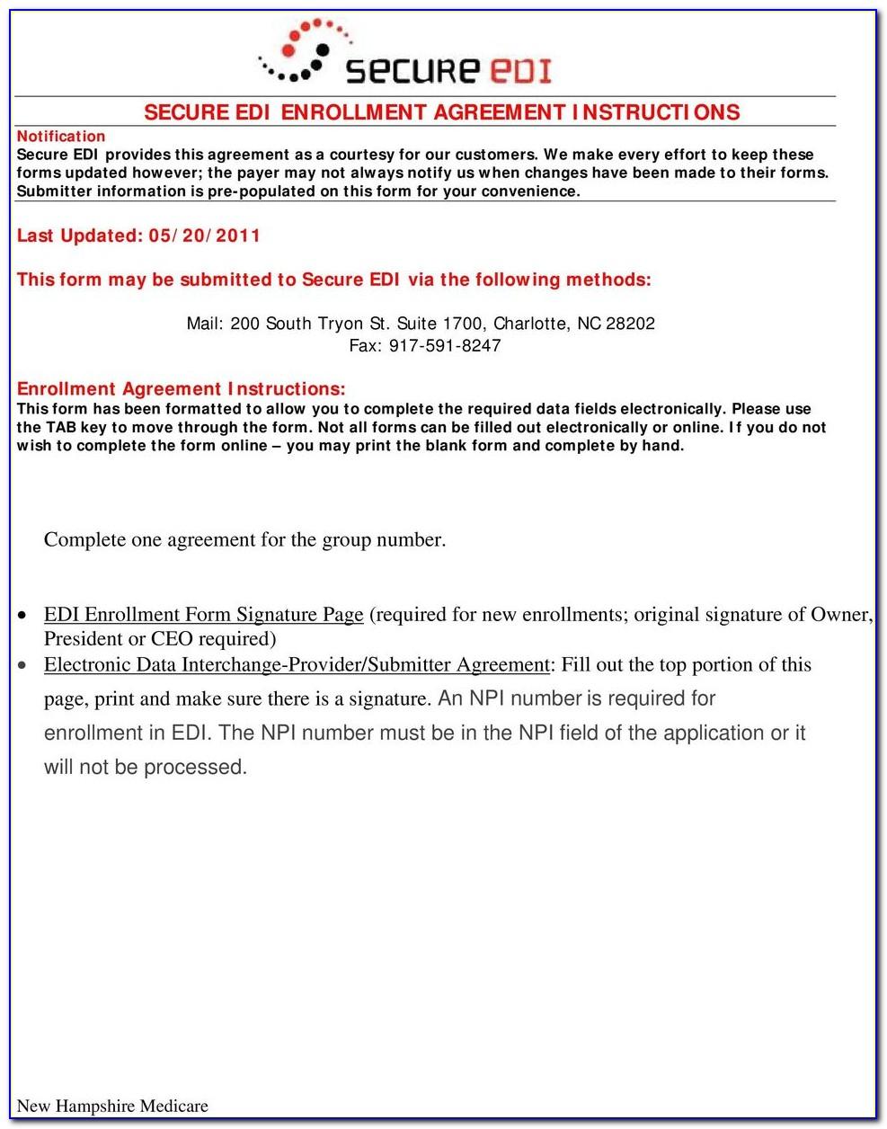 Rr Medicare Edi Enrollment Forms