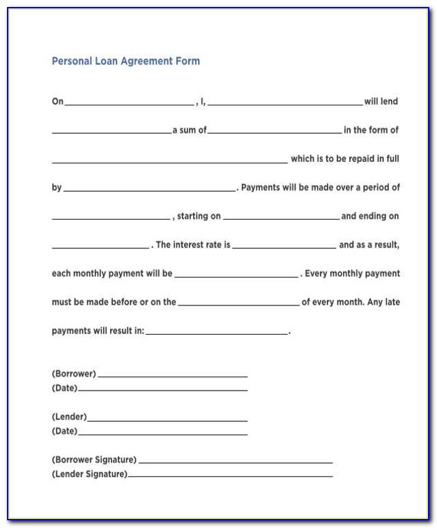 Sample Equipment Loan Agreement Form