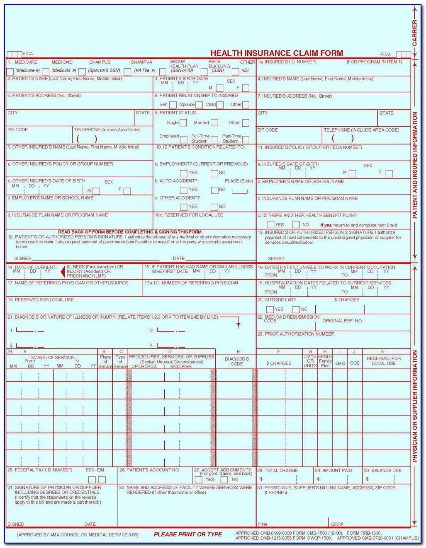 Sample Medicare Hcfa 1500 Form
