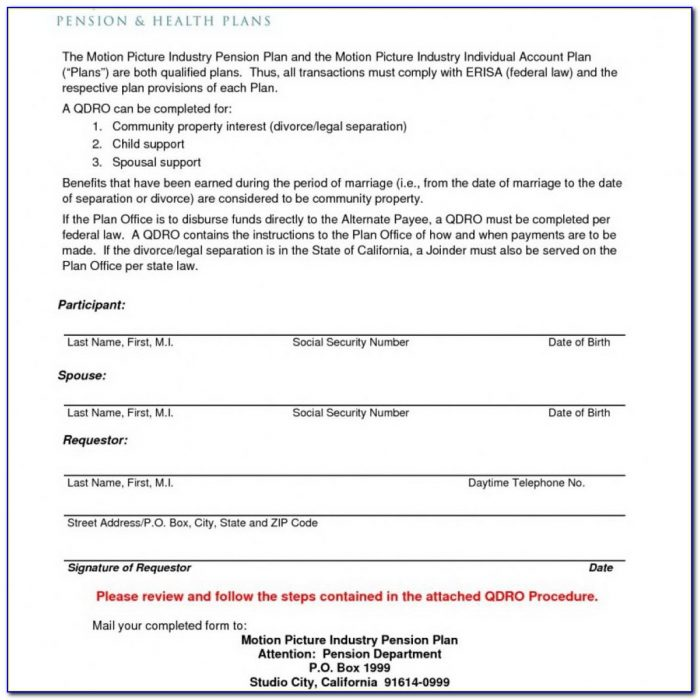 Sample Qualified Domestic Relations Order Texas
