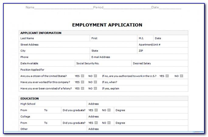 Sample Truck Driver Job Application