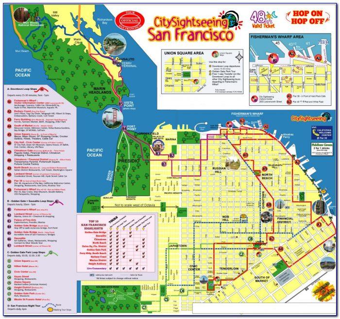 San Francisco Hop On Hop Off Bus Map