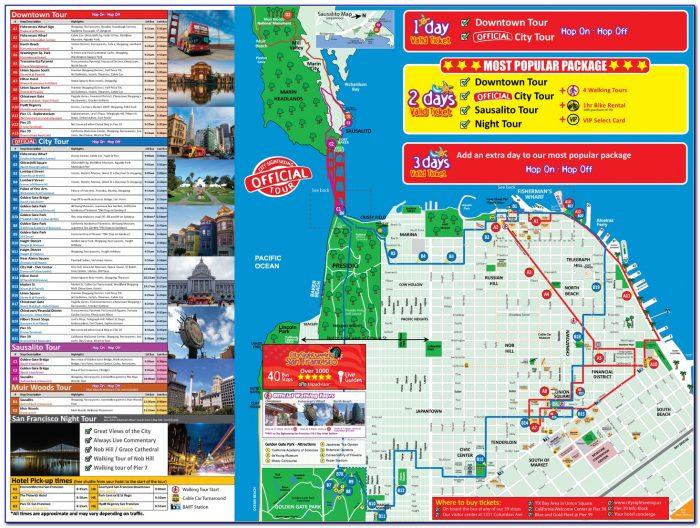 San Francisco Hop On Hop Off Bus Tour Map