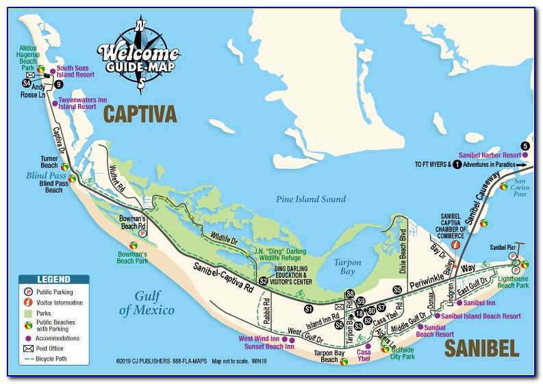 Sanibel And Captiva Islands Map