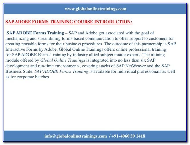 Sap Adobe Forms Training Material