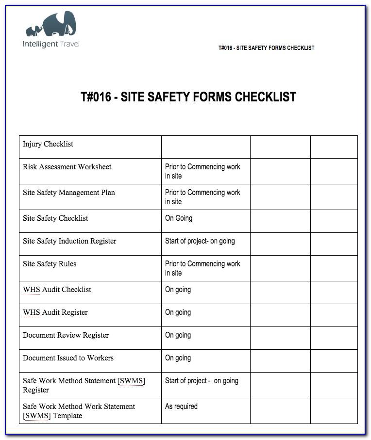 Saskatchewan Occupational Health And Safety Forms