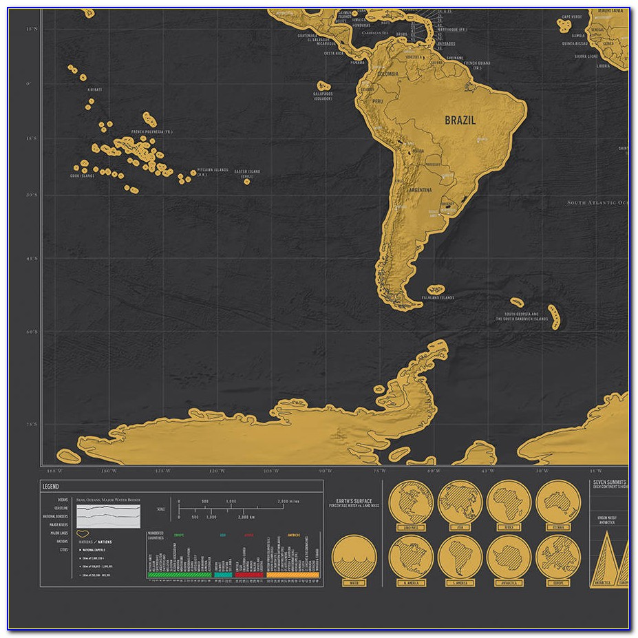 Scratch Map Deluxe Black